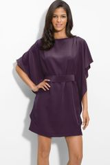 Suzi Chin For Maggy Boutique Tie Waist Silk Dress - Lyst