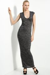 T By Alexander Wang Drape Back Marled Knit Dress - Lyst