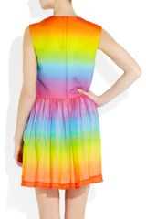 Christopher Kane Rainbow Cotton and Silkblend Dress in Multicolor (multicolored) - Lyst