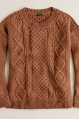 J.Crew Cable-stitch Sweater - Lyst