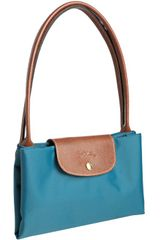 Longchamp Paon Nylon Le Pliage Large Folding Shopper Tote in Blue (teal) - Lyst