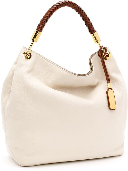 Michael Kors Skorpios Large Shoulder Bag, Ecru in Beige - Lyst