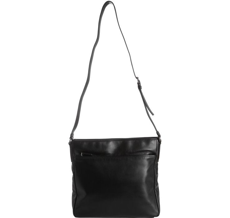 prada totes - Prada Black Leather Bandoleer Messenger Bag in Black for Men | Lyst