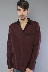 Kr3w The Dawson Buttondown Shirt in Burgundy - Lyst