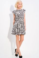 Alice + Olivia Matilda Zebra Print Dress - Lyst