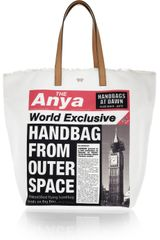 Anya Hindmarch Headline Printed Canvas Shopper - Lyst