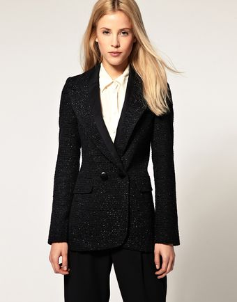 ASOS Collection Asos Blazer in Boucle - Lyst