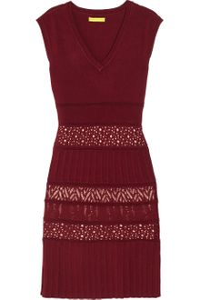 Catherine Malandrino Pointelle-knit Stretch-jersey Dress - Lyst
