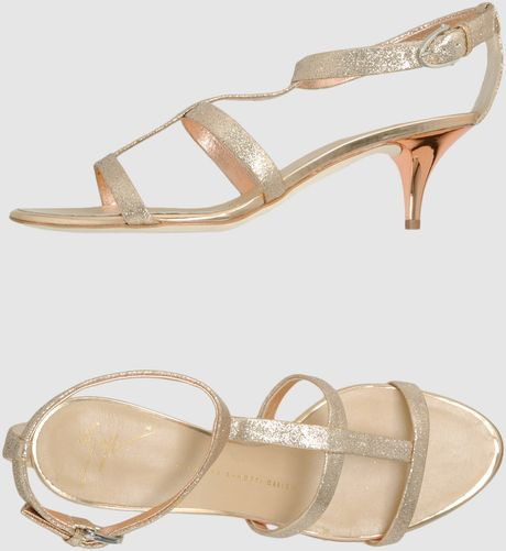 Giuseppe Zanotti  Highheeled Sandals in Gold (copper) - Lyst