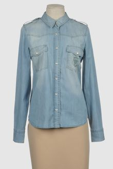 Gucci Denim Shirts - Lyst