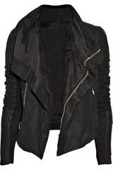 Rick Owens Textured-leather Biker Jacket - Lyst