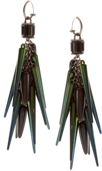 ASOS Collection Asos Spike and Beetle Shell Drop Earrings - Lyst