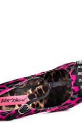Betsey Johnson Mortica in Pink (leopard) - Lyst