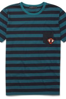 Burberry Prorsum Striped T-shirt with Badge - Lyst