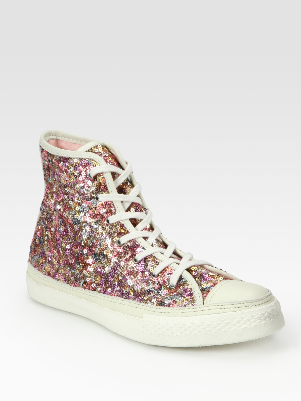 converse high tops sequin