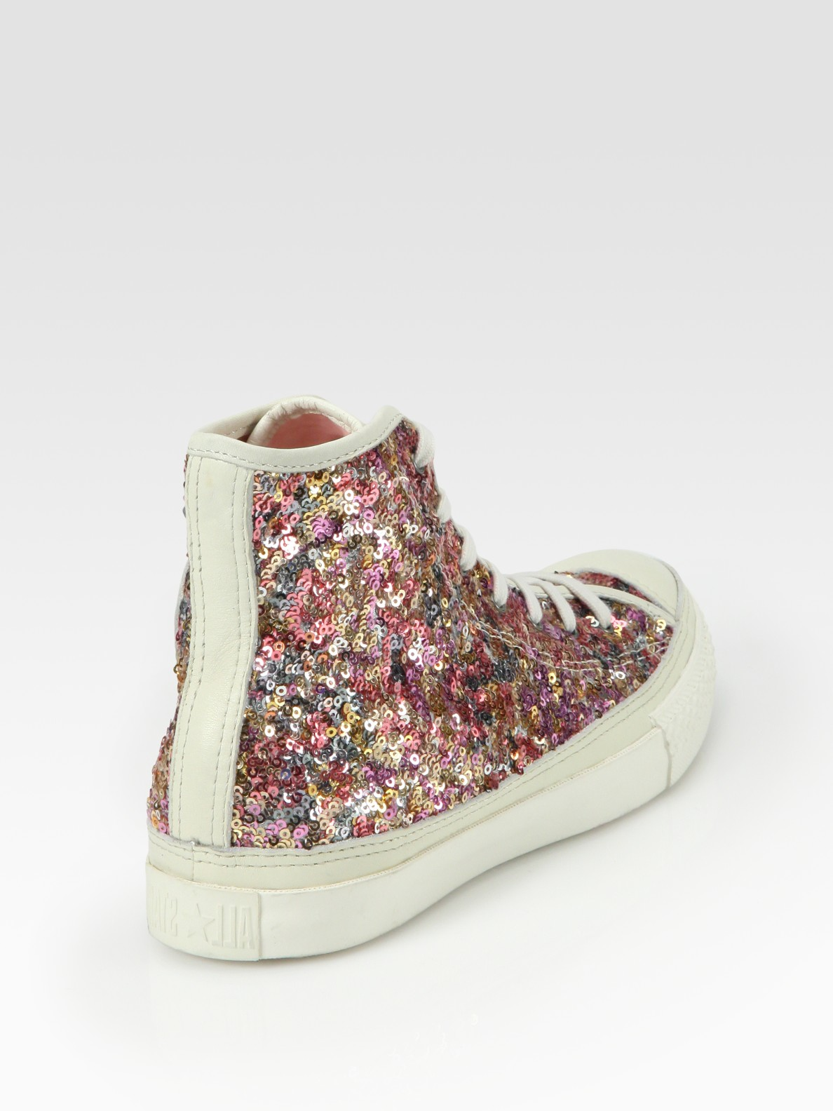 Lyst - Converse Sequin High-top Sneakers in Pink 7ac8f17a4