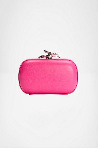 Diane Von Furstenberg Lytton Small Neon Leather Clutch in Pink (neon pink) - Lyst