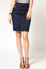 Diesel Denim Pencil Skirt in Blue - Lyst