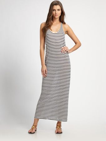 Joie Striped Linen Maxi Dress - Lyst