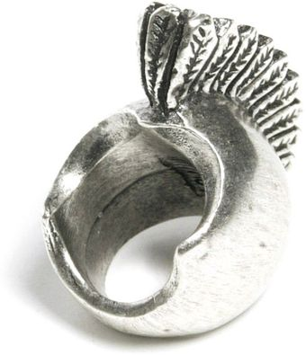 Low Luv X Erin Wasson Warrior Ring White Gold - Lyst