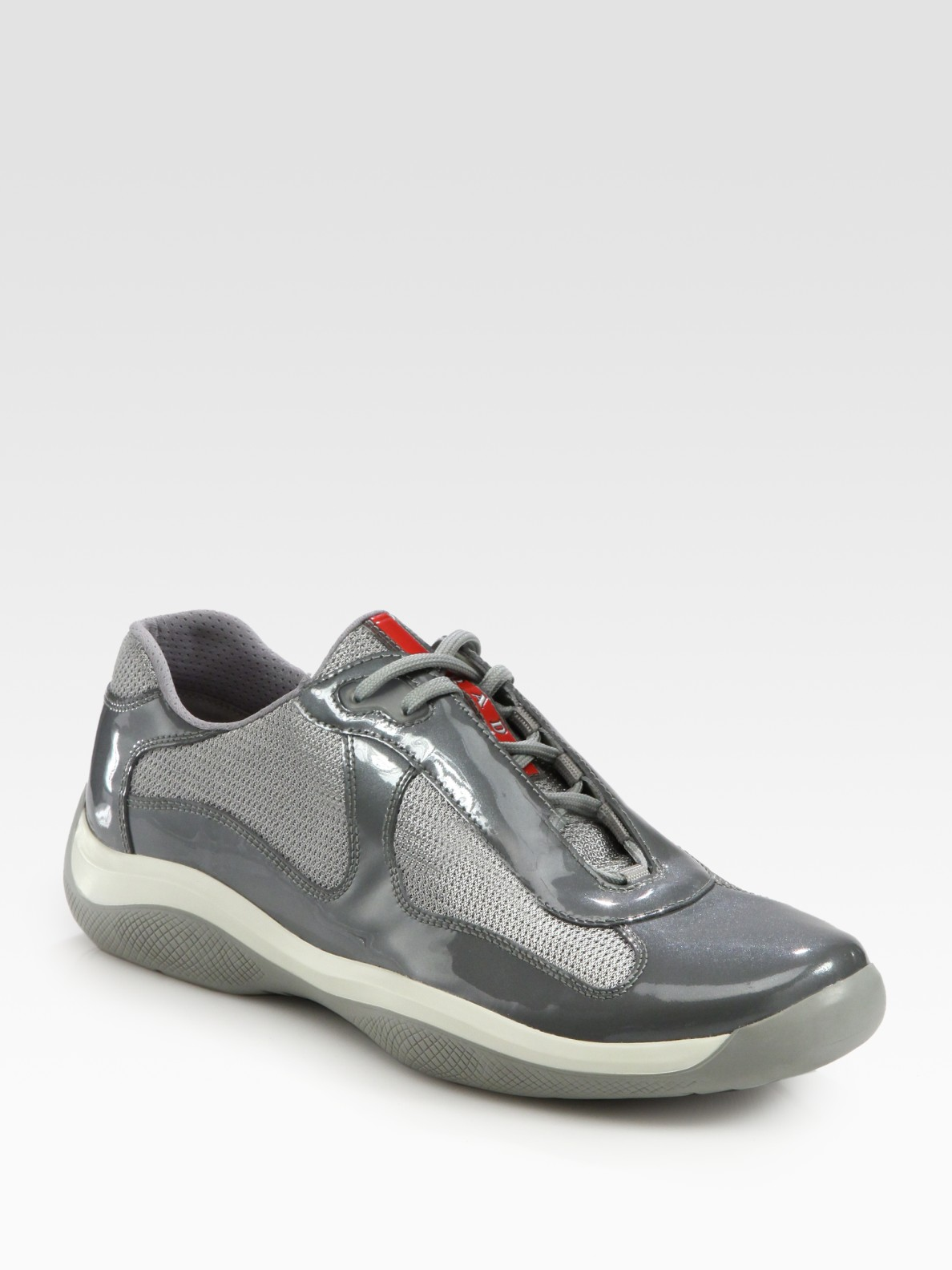 Prada Lace Up Sport Sneakers In Gray For Men Lyst