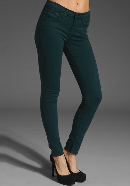 Rag & Bone Slim Fit Stretch Skinny in Green (jewel) - Lyst