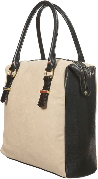 Topshop Faux Nubuck Cream Holdall in Beige (cream) - Lyst