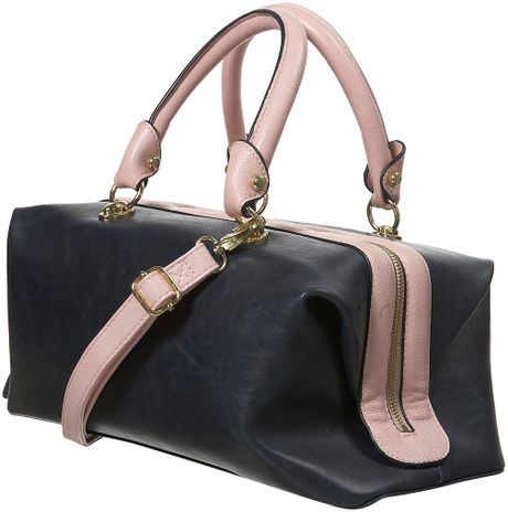 Topshop Navy Doctors Bag in Blue (navy blue)