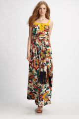 Tory Burch Ivey Silk Maxi Dress - Lyst