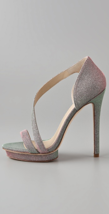 Lyst B Brian Atwood Consort High Heel Sandals In Green