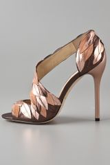 B Brian Atwood Lunetta High Heel Sandals in Silver (pewter) - Lyst