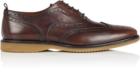 Burberry Brit Chocolate Leather Hike Soled Cardiff Brogue Shoes in
