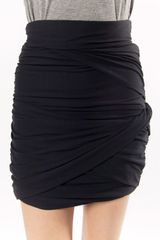 Carven Drape Skirt in Black - Lyst