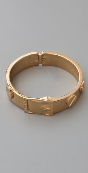Cc Skye Metal Screw Bracelet in Gold - Lyst
