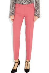 Emilio Pucci Wool and Silkblend Twill Straightleg Pants in Pink - Lyst