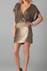 Haute Hippie Sequined V Neck Dress - Lyst