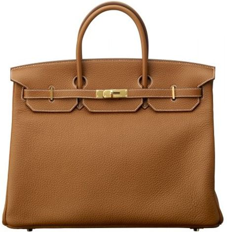 Hermes 40cm Gold Clemence Birkin in Brown (gold) - Lyst