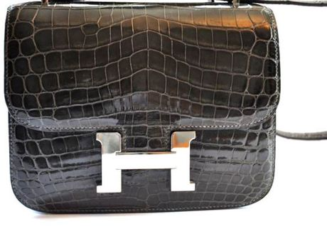 Hermes Graphite Micro Crocodile Constance in Gray (graphite) - Lyst
