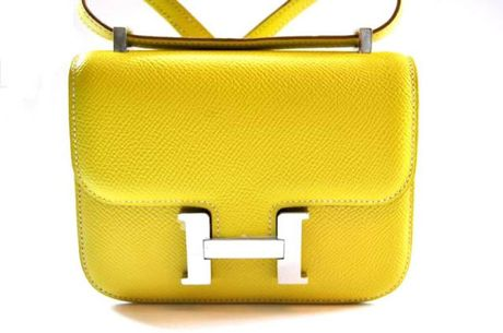 Hermes Lime Micro Constance in Yellow