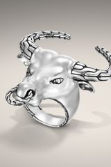 John Hardy Bull Head Ring - Lyst