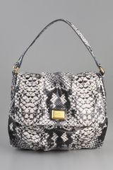 Marc By Marc Jacobs Supersonic Snake Printed Lil Ukita Satchel - Lyst