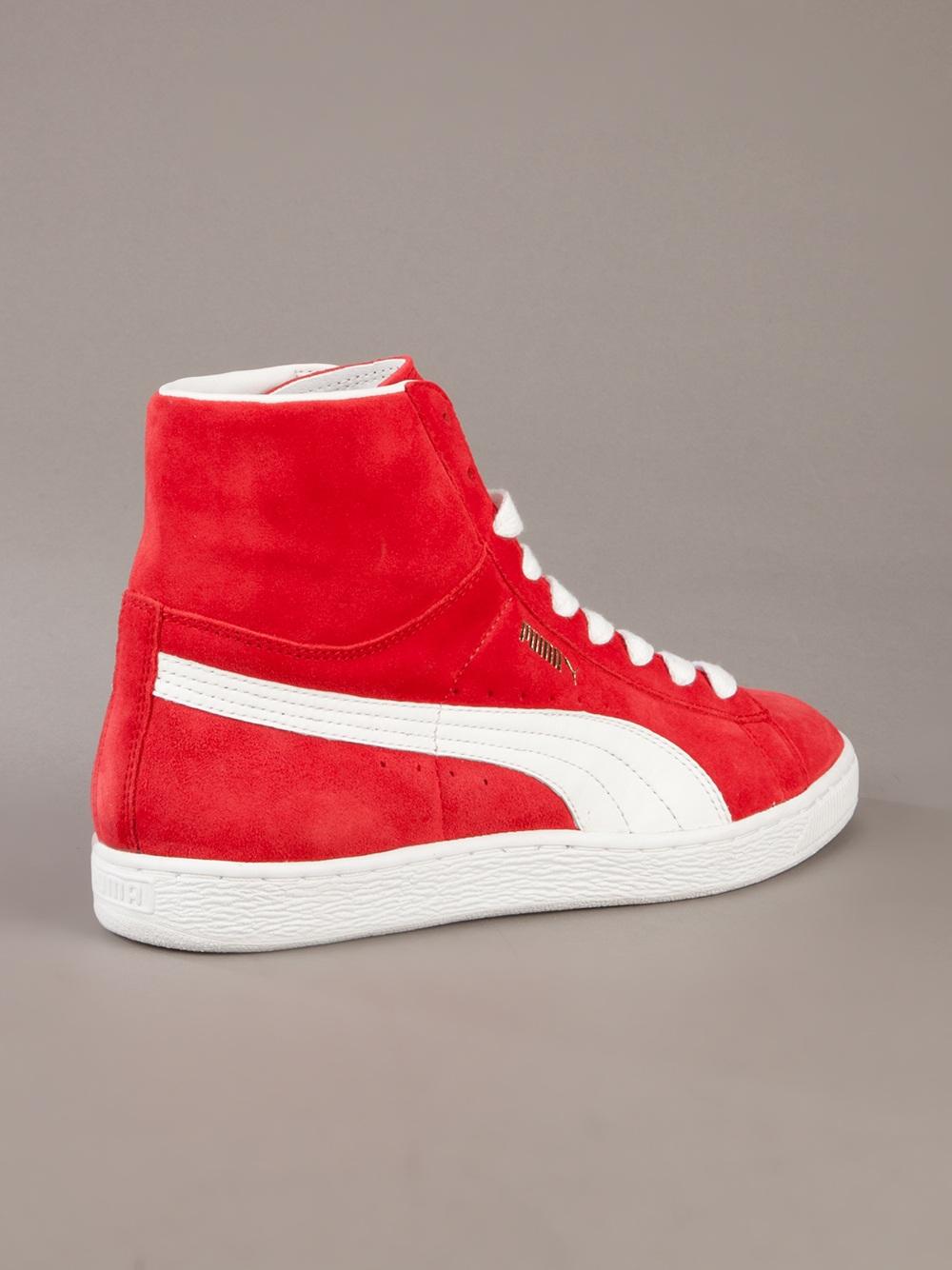 750801f106ec PUMA Hi Top Sneakers in Red for Men - Lyst