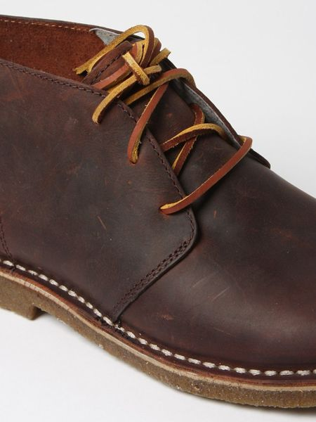 Seavees Mens 3 Eye Chukka Boot In Brown For Men Walnut