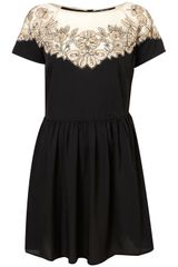 Topshop Vintage Lace Embroidered Dress - Lyst
