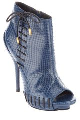 Versace Python Ankle Boot in Blue - Lyst