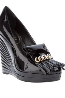 Yves Saint Laurent Wedge Shoe - Lyst