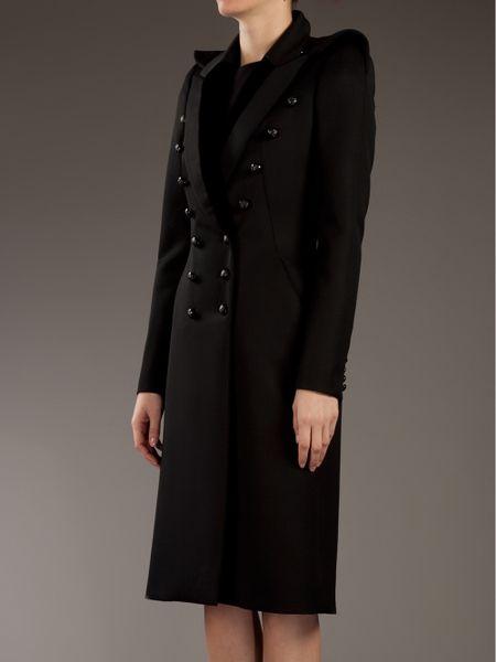 Alexander Mcqueen Military Coat In Black Lyst