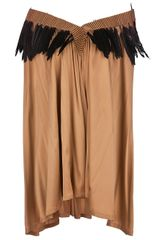 Ann Demeulemeester Feather Trim Dress - Lyst
