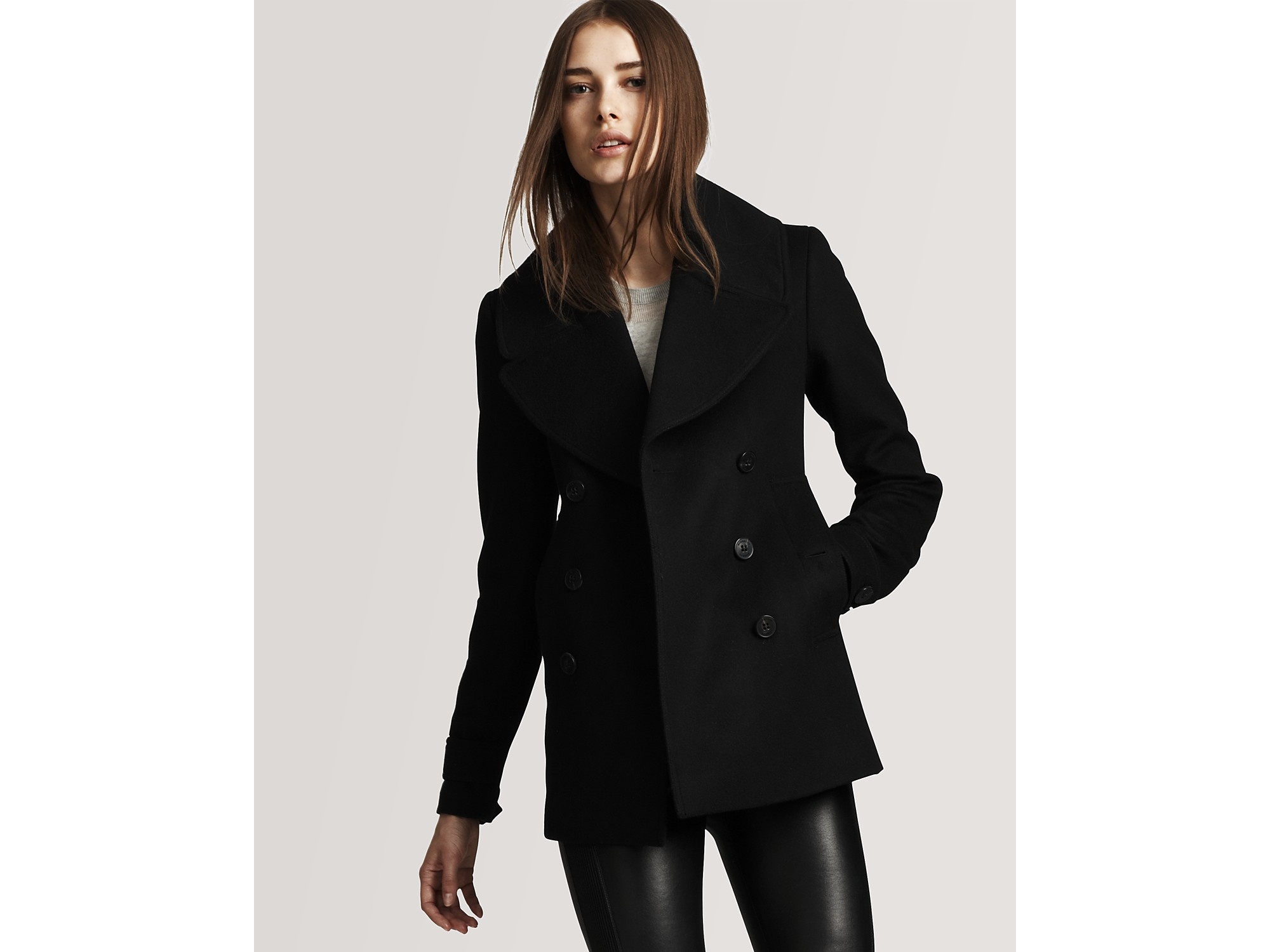 Burberry Burberry London Wool/cashmere Double Breasted Short Coat ...