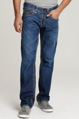 Ash True Religion Ricky Super T Straight Leg Jeans in Dodge City Wash - Lyst